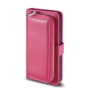 Luxe multifonctions Porte-monnaie en cuir PU Zipper Purse Housse de téléphone pour iPhone 11 Pro Max XS Max XR 8 7 6S plus S8 S9 S10 plus Note 10 Pro