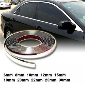 13 Meter Silber Auto Chrome Styling Dekoration Formleiste Zierstreifen Klebeband Auto DIY Anti-Kollisions-aufkleber 6mm 8mm 15mm 20mm 30 mt