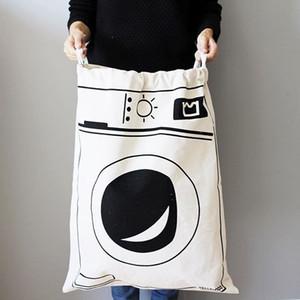 도매 어린이 보관 바구니 상자 방 완구 보관 가방 양동이 의류 주최자 세탁 가방 캔버스 주최자 폴카 도트 세탁소