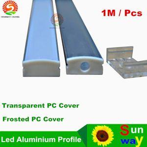 Sinomann-SW1707 1M LED-Aluminium-Profil Transparente milchig gefrostete PC-Abdeckung für LED-flexible Streifen LED-starre Streifen bis zu 12 mm Breite