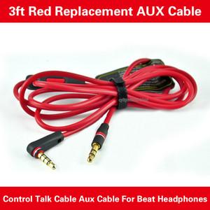 3,5 Замена Красные Кабели для Heaphones с управления Обсуждение и MIC аудиорасширения AUX штекерами для наушников гарнитуры