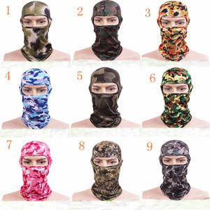 Nuevo Camuflaje Tactical Headgear CS Máscara Outdoor Sports Cap Bicicleta Ciclismo Pesca Máscaras de la motocicleta Ski Balaclava Halloween Full Face Mask