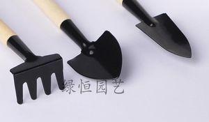 HOT mini garden 3 PCS strumenti vegetali giardino mano utensili in legno accessorio da giardino maniglia portatile testa in metallo per giardiniere bambini