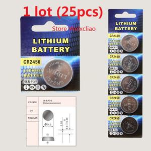 25 unids 1 lote CR2450 3 V batería de botón de litio li ion CR 2450 3 voltios li-ion monedas Envío Gratis