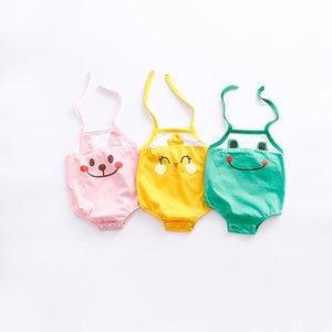 2017 bebê crianças 3 cores novos estilos New Arrivals Hot vender infantil crianças verão de algodão de alta qualidade bonito sapo bebê pendurado no pescoço romper