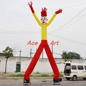 Dançarino inflável do ar duas pernas Dançarino inflável do céu Dançarino inflável do palhaço da propaganda com 2 pernas