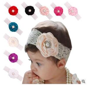 2016 Infant Flower Pearl Fasce Girl Lace Headwear Bambini Baby Photography Puntelli NewBorn Bow Accessori per capelli Fascia per capelli Baby