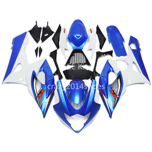 5 free gifts New ABS motorcycle Fairing Kits 100% Fit For SUZUKI GSXR1000 K5 2005-2006 GSXR 1000 K5 05-06 nice white and blue nice 195