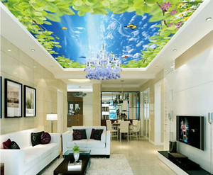 Европейский стиль 3D потолочные обои Sky blue sky 3D стереоскопические обои для стен спальни Обои для потолков
