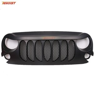 The Newest Black ABS Plastic Raging Fire Grille With Bug Screen For Jeep Wrangler JK 07-16