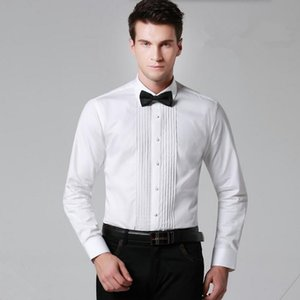 Custom made men shirt estilo clássico festa jantar camisa cor sólida único breasted noivo casamento a camisa de entrevista