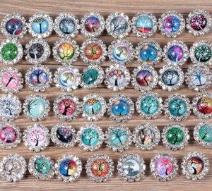 Nouveau Mode Rivca Snaps Bouton charme Bijoux Mix styles 18mm Strass Métal Snap Bouton Charme Fit Bracelets NOOSA morceau aa288