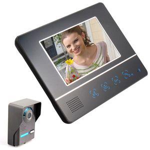 7 بوصة TFT LCD تعمل باللمس اللون الفيديو باب الهاتف المكمل ليلة النسخة أنظمة كاميرا إنترفون