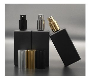 2017 Nouveau 3 couleurs Noir Verre Bouteille De Parfum En Verre, Atomiseur De Voyage 50 ML Vide Bouteille De Parfum Rechargeable