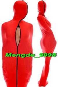 Unisex Mummy Suit Red Lycra Spandex Mummy Suit Vestito Costumi Unisex Sacco a pelo con maniche a braccio interno Halloween Cosplay Suit M078