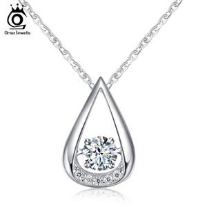 ORSA JEWELS 100% pendentifs en argent sterling 925 colliers pour le mariage de Madame CharmDe fiançailles de la mode des bijoux des femmes SN40