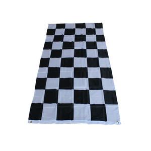 3*5 футов клетчатый гоночный флаг - 90 см*150 см черный белый плед Nascar флаг Автоспорт гоночный баннер украшения дома Бесплатная доставка