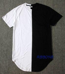 Оптово Половина черный белый New Men Summer Dress Tee Tshirt Hip Hop Уличная мода майка с коротким рукавом Повседневная Tshirt