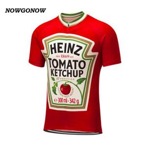 رجل مخصص جديد حار 2017 الطماطم mtb الطريق سباق فريق الدراجة برو الدراجات جيرسي / قمصان قمم الملابس التنفس الهواء jiatuo