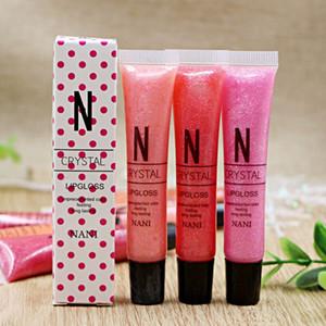 Durable venta de maquillaje de labios caliente antiadherente 12ml Larga Duración Colores 16 colores completos NANI Crystal Lip Gloss 1000 PC / porción DHL libre