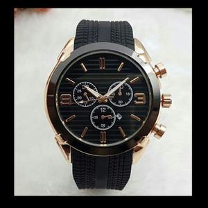 Relogios masculinos 45 mm de alta calidad de marca superior relojes de oro hombres diseñador de moda de moda big bang de cuarzo fecha del día automático reloj maestro