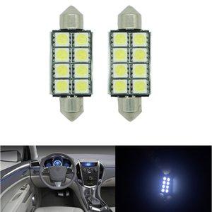 10x Auto 6SMD-36MM 8SMD-41MM Canbus Kein Fehler Kennzeichen Weiße LED-Glühlampen 6418 36MM Girlandenlampen