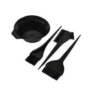 4 Pcs / set cabeleireiro escovas bacia Combo Salon Hair Color Kit tintura de cabelo Tint Tool Set