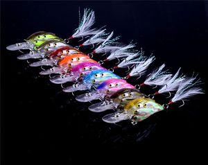 Hot 3D Occhi lungo Bocca Shad Crankbait pesca a mosca esche 7.5cm 9g diretta target Minnow esche per la pesca d'acqua dolce attrezzatura