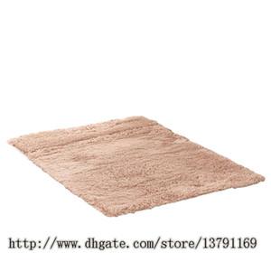 Suave interior moderno Shag área alfombras Alfombras mullidas antideslizante Shaggy área Alfombra Comedor Home Dormitorio alfombra alfombra Mat Khaki
