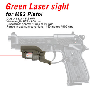 PPT Nueva llegada M92 Red Laser Sight Laser Device Filly Ajustable para Windage and Elevation Envío gratis CL20-0020