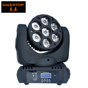 Freeshipping 7 * LED 12W RGBW Cree Super Bright Moving Head fascio-4 in 1 Cree capa commovente del fascio di luce 100V-240V 90W LED del fascio di luce TP-L641