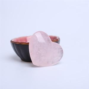 HJT rose pink cristal de Quartzo Coração Escultura Artesanato Pedra Chakra Cura Reiki Pedras Amante gife pedra de cristal forma de Coração