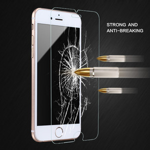 Para iphone 8 plus iphone x 0.26mm 2.5d 9 h protetor de tela de vidro temperado para iphone 7 plus 6 s 5 s s7 edge