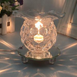 Aydınlık Aroma Işıklar Kristal Küre şekli Elektronik tütsü brülör Tahliyesi Stres Arıtılmış Hava Kokular lambası için Home'un 15yq B R