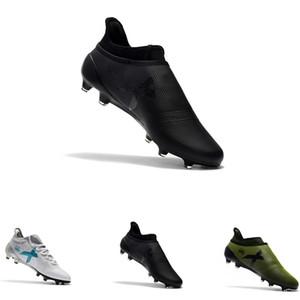 Ace 17 + Purecontrol X Purechaos FG Açık futbol futbol ayakkabıları erkekler için yeşil beyaz mavi erkek futbol cleats boyutu 39-45