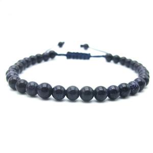 Vente en gros - Perles de grès bleu à la main Shambala bracelet chanceux cadeau cadeau charme bijoux de mode
