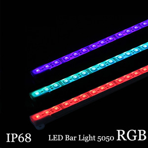 5050 RGB LED Bar light DC12V 36LED 50cm IP68 Water Aquarium Lighting LED Hard Strip bar Light