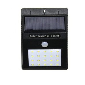 2pc 20LED Solar LED Wall Lamp wireless LED Outdoor PIR Motion Sensor Garden Lights Waterproof Courtyard Exterior Security Flood Spotlight