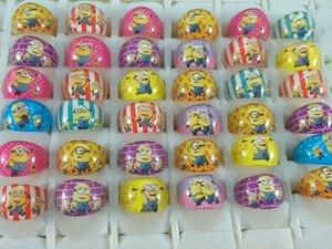 commercio all'ingrosso 200pcs / lot Serventi anelli di resina bambini ragazze bambini compleanno regalo di festa di Natale