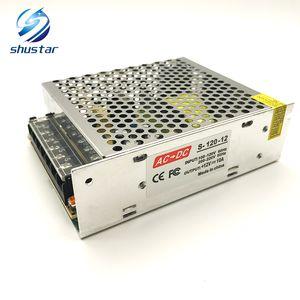 Оптовые трансформаторы освещения 10A 120W 85V-265V AC к DC 12V переключатель адаптер питания конвертер для RGB светодиодные полосы света