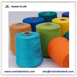 Хлопок 95% кашемир 5% полу камвольная смешанная пряжа окрашенная пряжа окрашенная пряжа для свитера