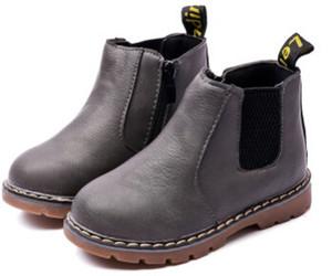 2018 nova primavera outono crianças shoes couro pu clássico botas martin crianças botas de neve marca meninos da criança botas de borracha
