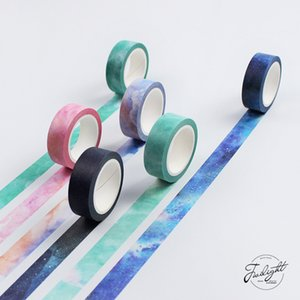 Toptan-2016 Yaratıcı Rüya Gökyüzü Japon Dekoratif Yapışkan Bant Maskeleme Washi Bant Diy Scrapbooking Okul Malzemeleri Kırtasiye Papela