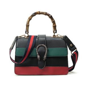 Женщины сумка женская сумка двойная змея голова сумка крест тела сумка сумки с бамбуковой ручкой