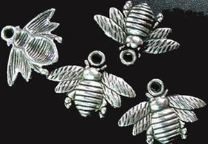 Тибетский серебряный милый пчелы прелести 16x21mm A742