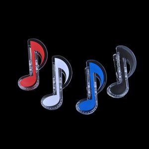 Paper Clip Folder Huitième note Low Music Clef Design Set de 4 coloré