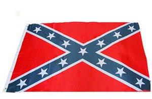 Dois Lados Impresso Bandeira Confederado Rebel Bandeira Da Guerra Civil Nacional de Poliéster Bandeira 5X3FT 50 pcs frete grátis