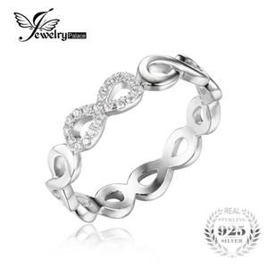 Jewelrypalace infinity sonsuza aşk kübik zirkonya yıldönümü promise ring kadınlar için saf 925 ayar gümüş takı hediye