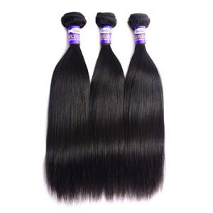 Бразильские Виргинские расширения человеческих волос прямые 3 шт. / лот 9A необработанные бразильские прямые пучки человеческих волос натуральный цвет