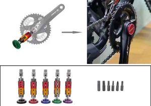 Nuovo Hidden Ciclismo bicicletta attrezzo della bici multi Repair Tool Kit chiave cacciavite catena Cutter nero / RedGreen / viola leggero Top Quality